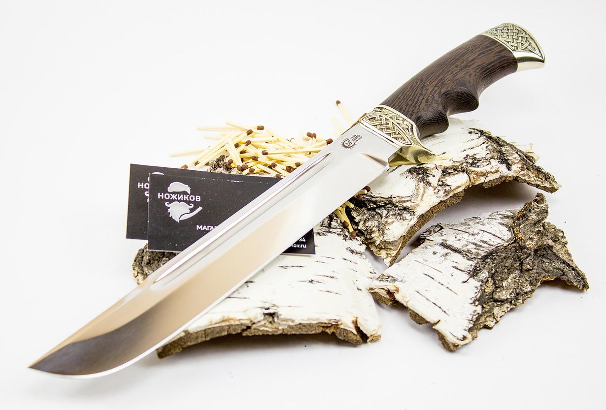 Нож Цезарь , кованая сталь Х12МФНожи Ворсма<br>Нож «Цезарь» - воплощение идеального соответствия формы и содержания. Ведь за таким красивым дизайном клинка скрывается прочнейшая сталь Х12МФ, которая выдерживает очень высокие нагрузки. Принимайте правильное решение купить кованый нож из стали Х12МФ «Цезарь».<br>