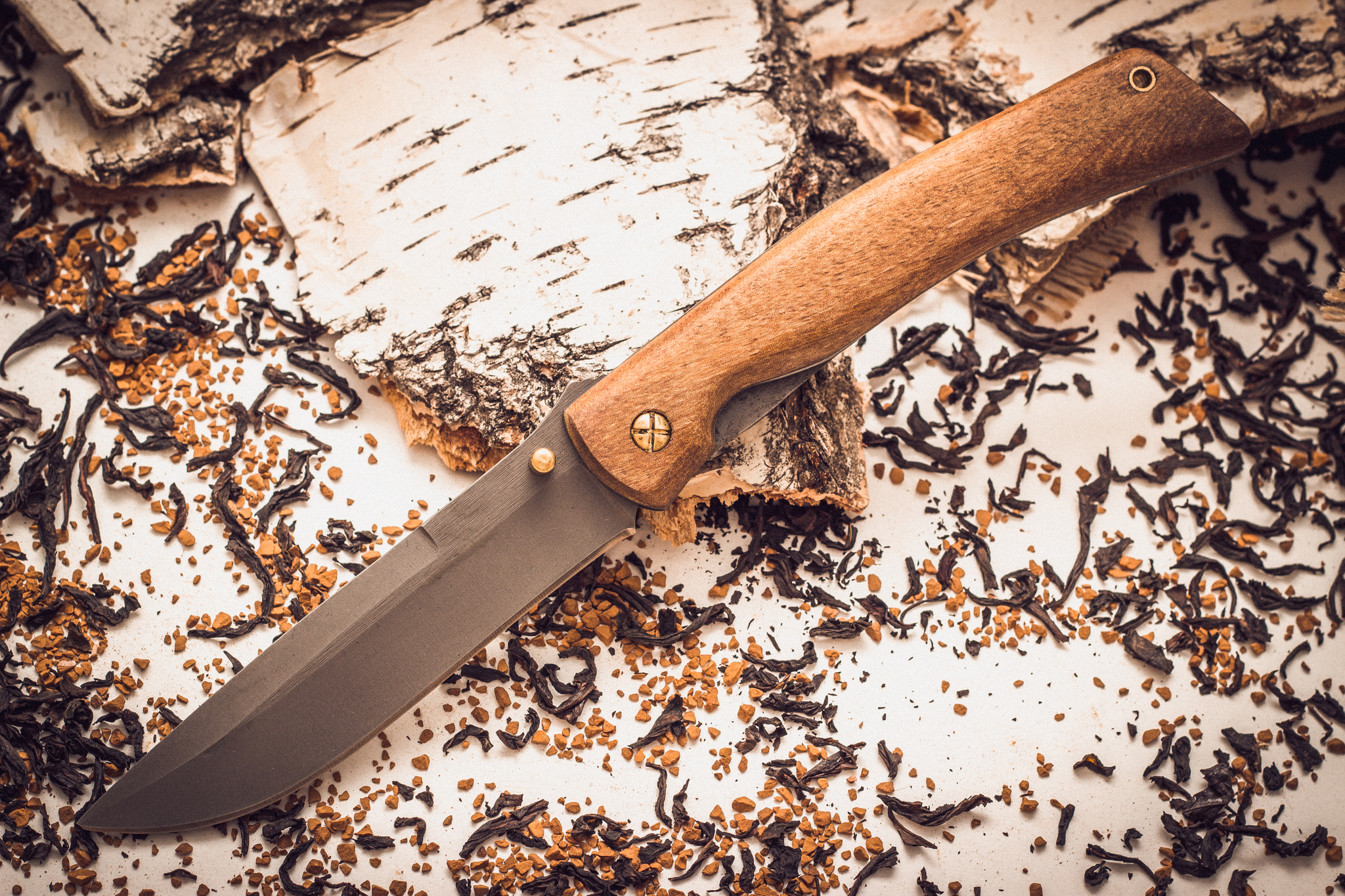 Складной нож Кочевник из стали 95х18, орех от Марычев