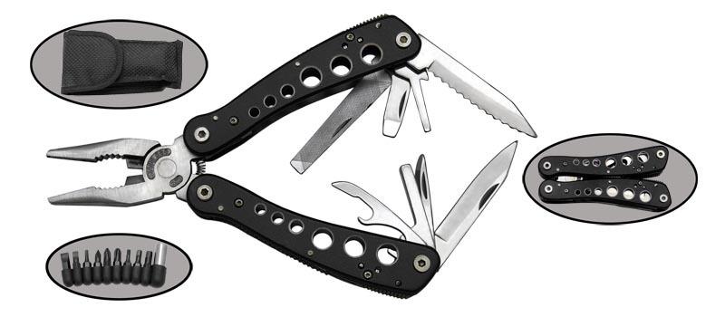 Мультитул Traveler 2014BРаскладные ножи<br>Oбщая длина- 168 мм Длина клинка- 60 мм Толщина клинка- 1,8 Сталь- 420Рукоять- металл Чехол- нейлон<br>
