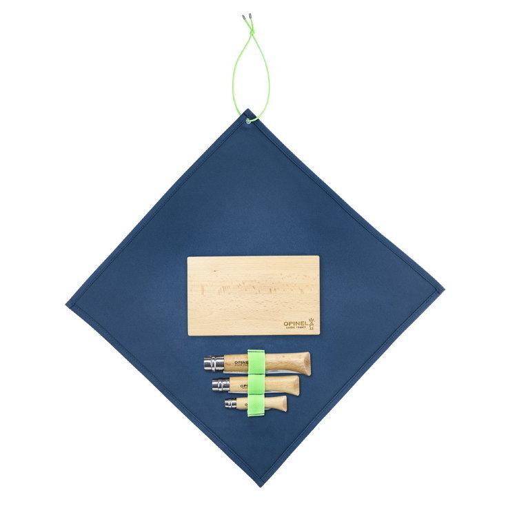 Фото 3 - Набор 3-x складных ножей Opinel Nomad Cooking Kit, сталь Sandvik 12C27, рукоять бук, 002177