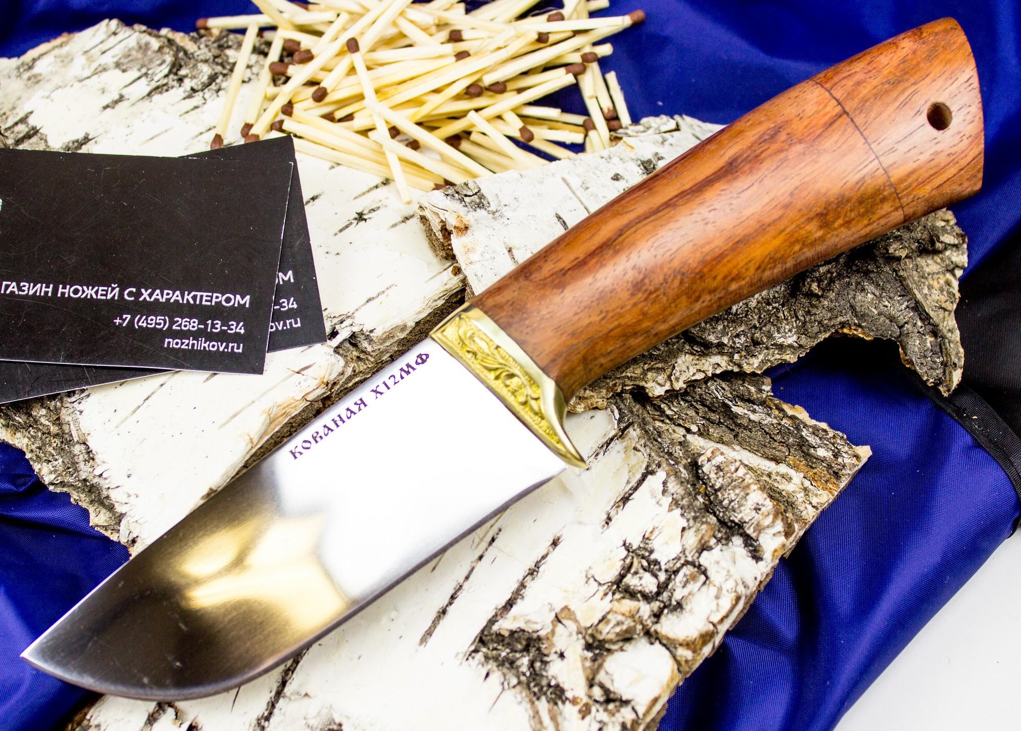 Нож Скин, сталь Х12МФ, мельхиорНожи Ворсма<br>Универсальный нож для рыболовов и туристов.Шкуросъёмныйнож предназначен для разделки животного. Имеет широкое, короткое лезвие для аккуратного снятия шкуры.<br>