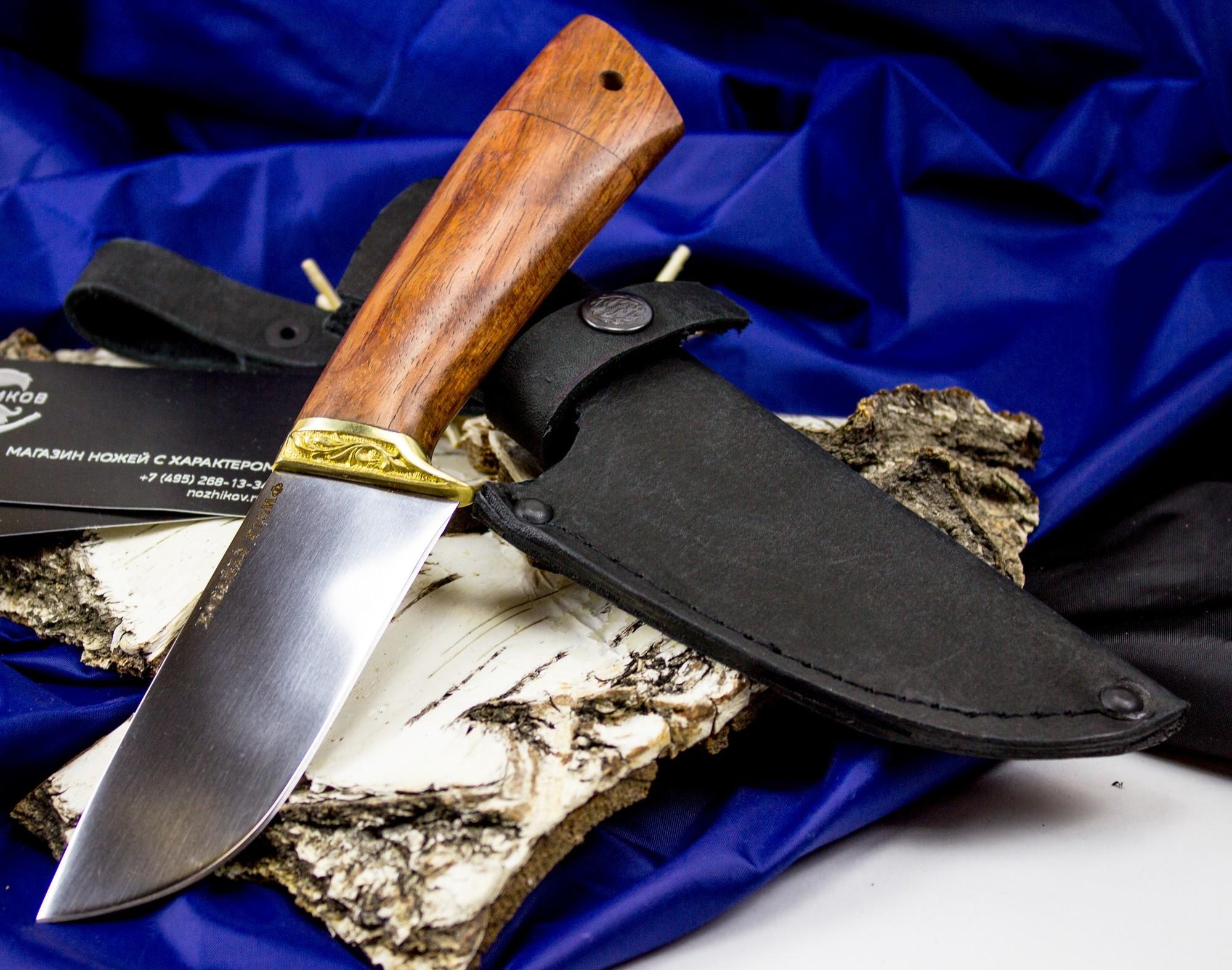 Нож Скин, сталь Х12МФ, мельхиор