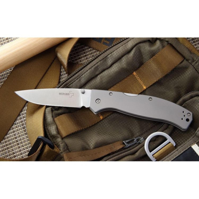 Фото 2 - Складной нож Boker Plus Titan Drop 01BO188, сталь 440C, рукоять титан