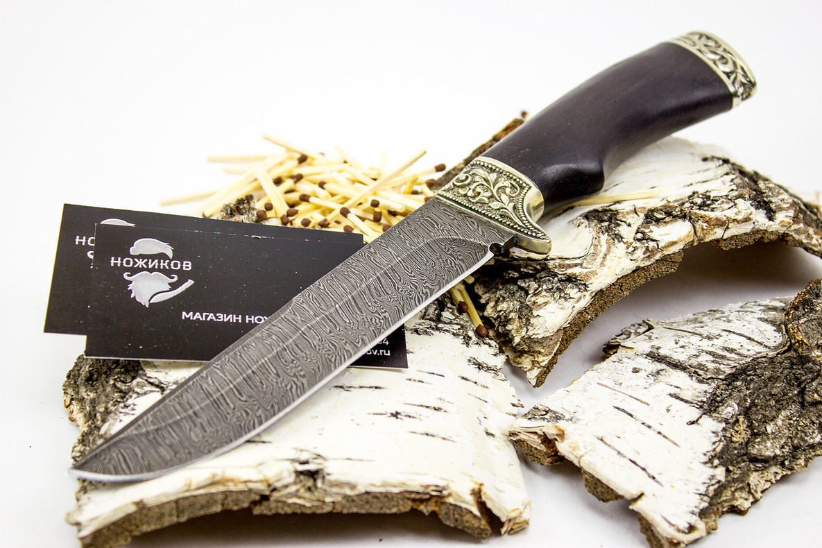 Фото 2 - Нож Варяг, дамасская сталь от Кузница Семина