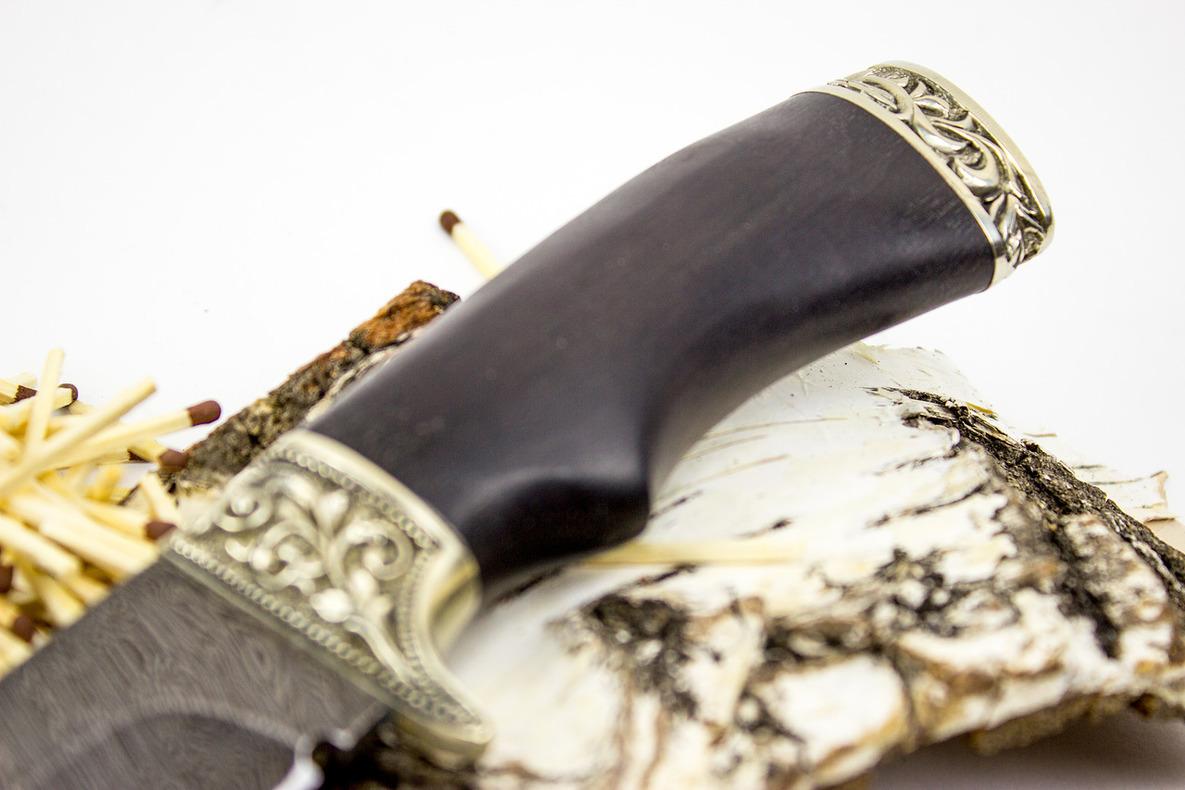 Нож Варяг, дамасская сталь