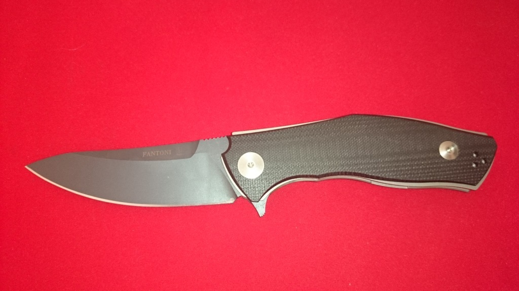 Нож складной C.U.T. Flipper, Black/Gray G-10 Scales, PVD - Coated Crucible CPM® S30V™, Dmitry Sinkevich (SiDiS) Design 9.3 см.