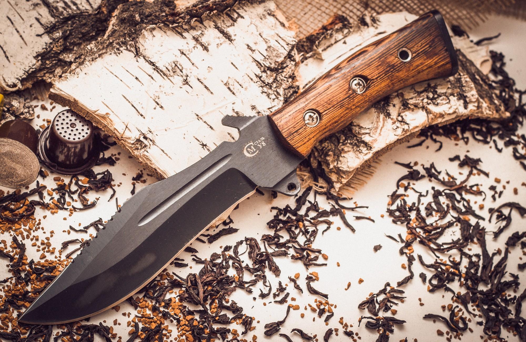Нож Армейский с антибликовым покрытием от Кузница Семина