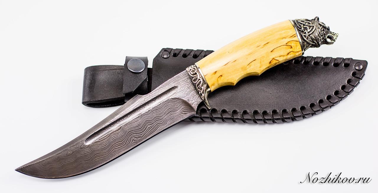 Авторский Нож из Дамаска №15, КизлярНожи Кизляр<br><br>