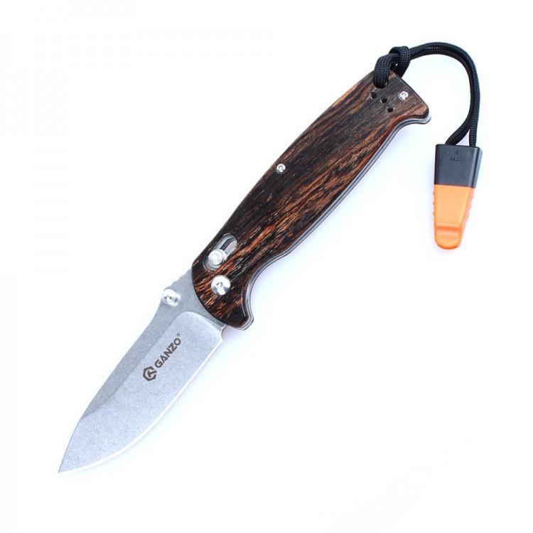 Нож складной Ganzo G7412-WS, светлое дерево нож складной ganzo g740