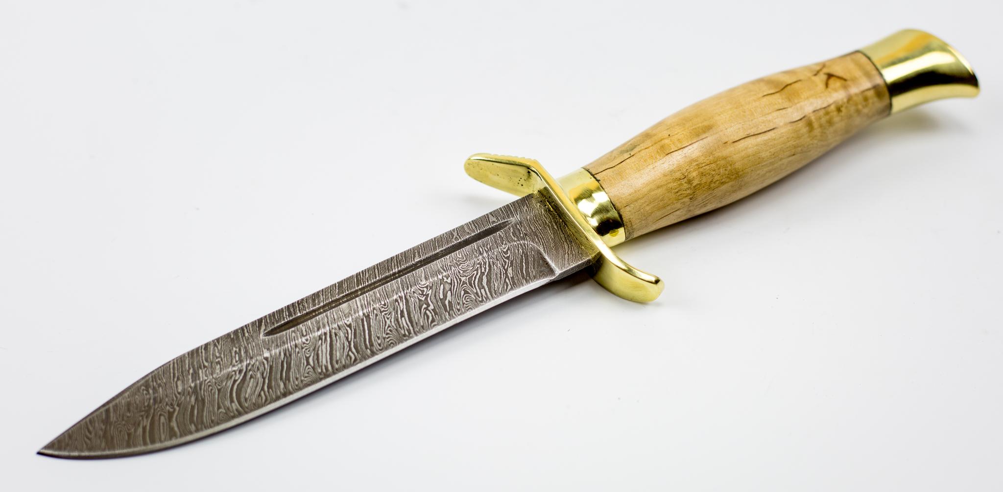 Фото 4 - Нож НР-40, сталь дамаск, карельская береза от Промтехснаб