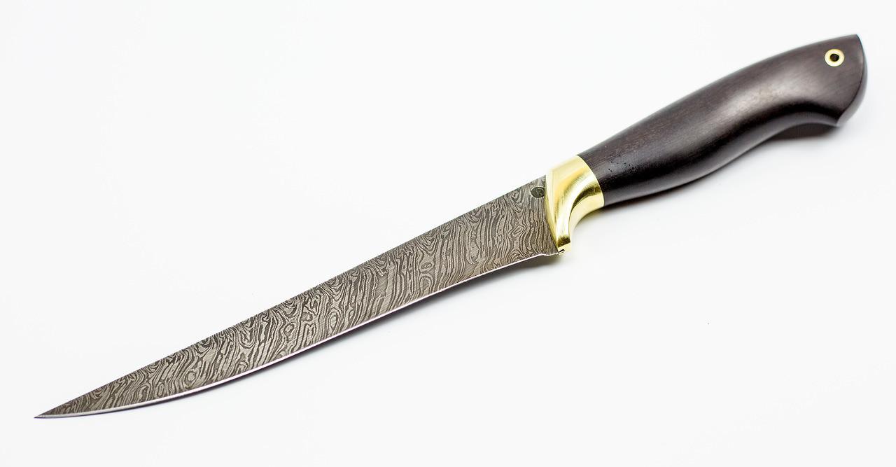 Фото 2 - Нож Филейный-1, дамаск от Ножи Крутова