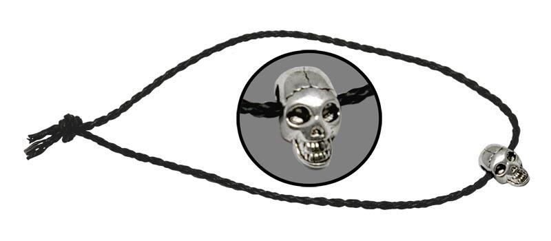 Темляк плетенный ЧерепViking Nordway<br>Длина: 500 мм Диаметр: 3 мм Материал: кожа/металл<br>