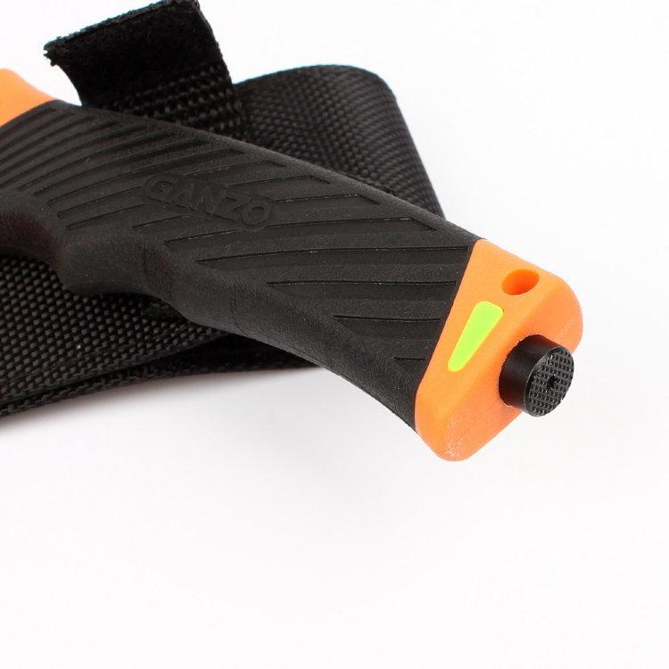 Фото 12 - Нож для выживания с огнивом и точилкой Firebird (by Ganzo) G803-OR