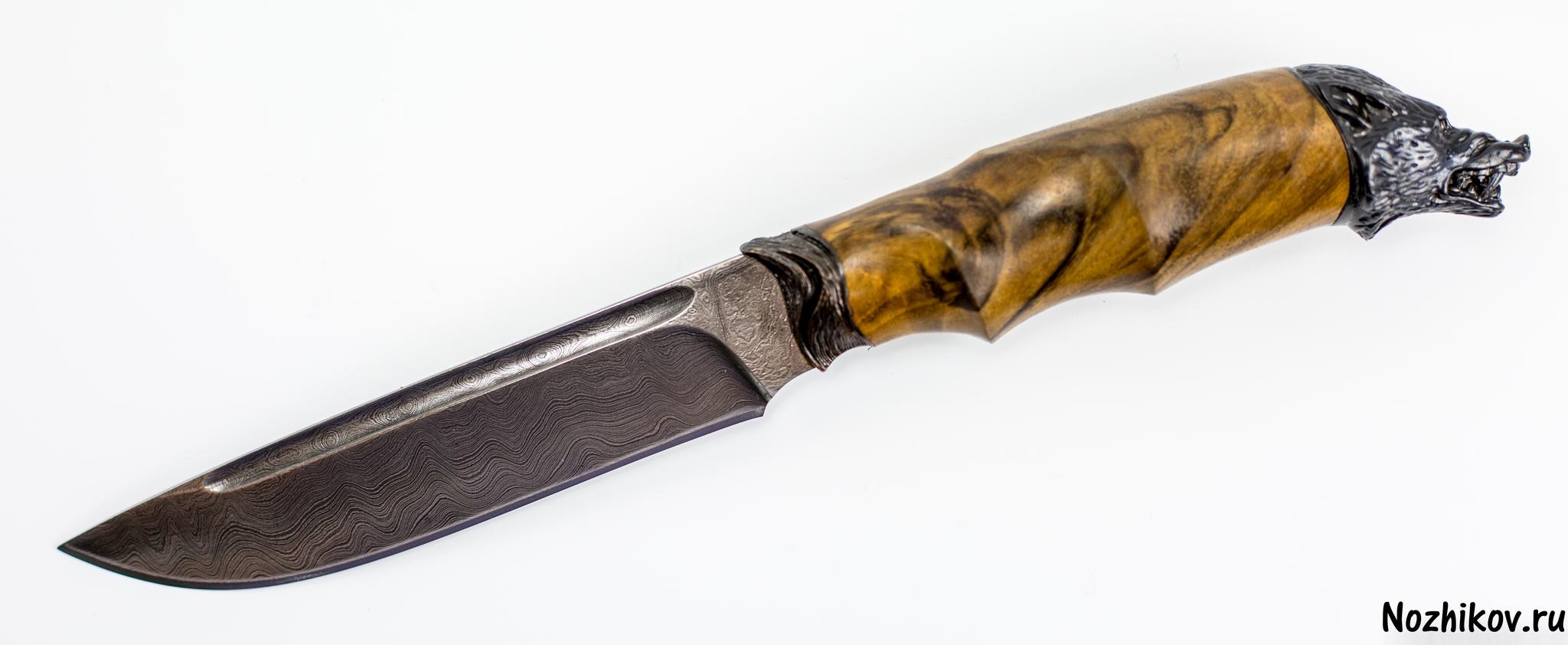 Авторский Нож из Дамаска №3, Кизляр
