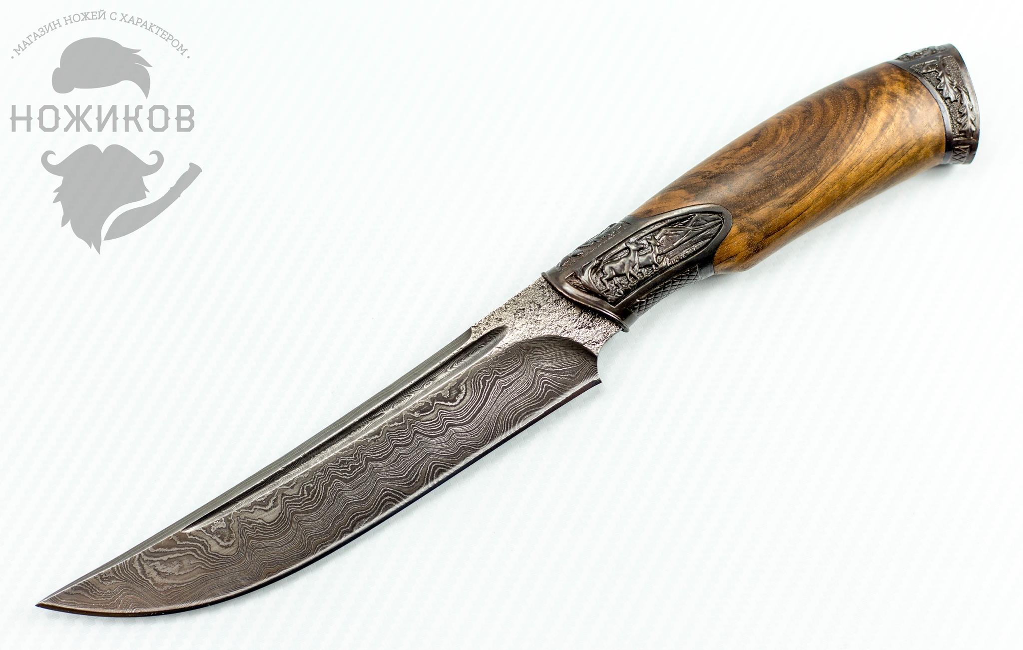 Авторский Нож из Дамаска №50 от Кизляр авторский нож из дамаска 2 кизляр