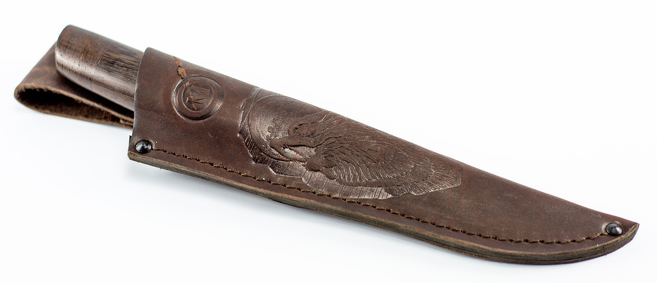 Фото 12 - Нож Танто-2, сталь дамаск, рукоять венге от Кузница Семина