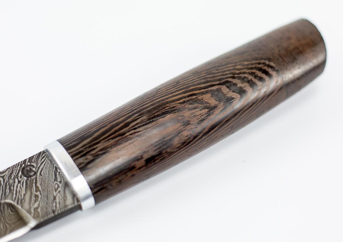 Фото 10 - Нож из дамасской стали Танто-2, рукоять венге от Кузница Семина