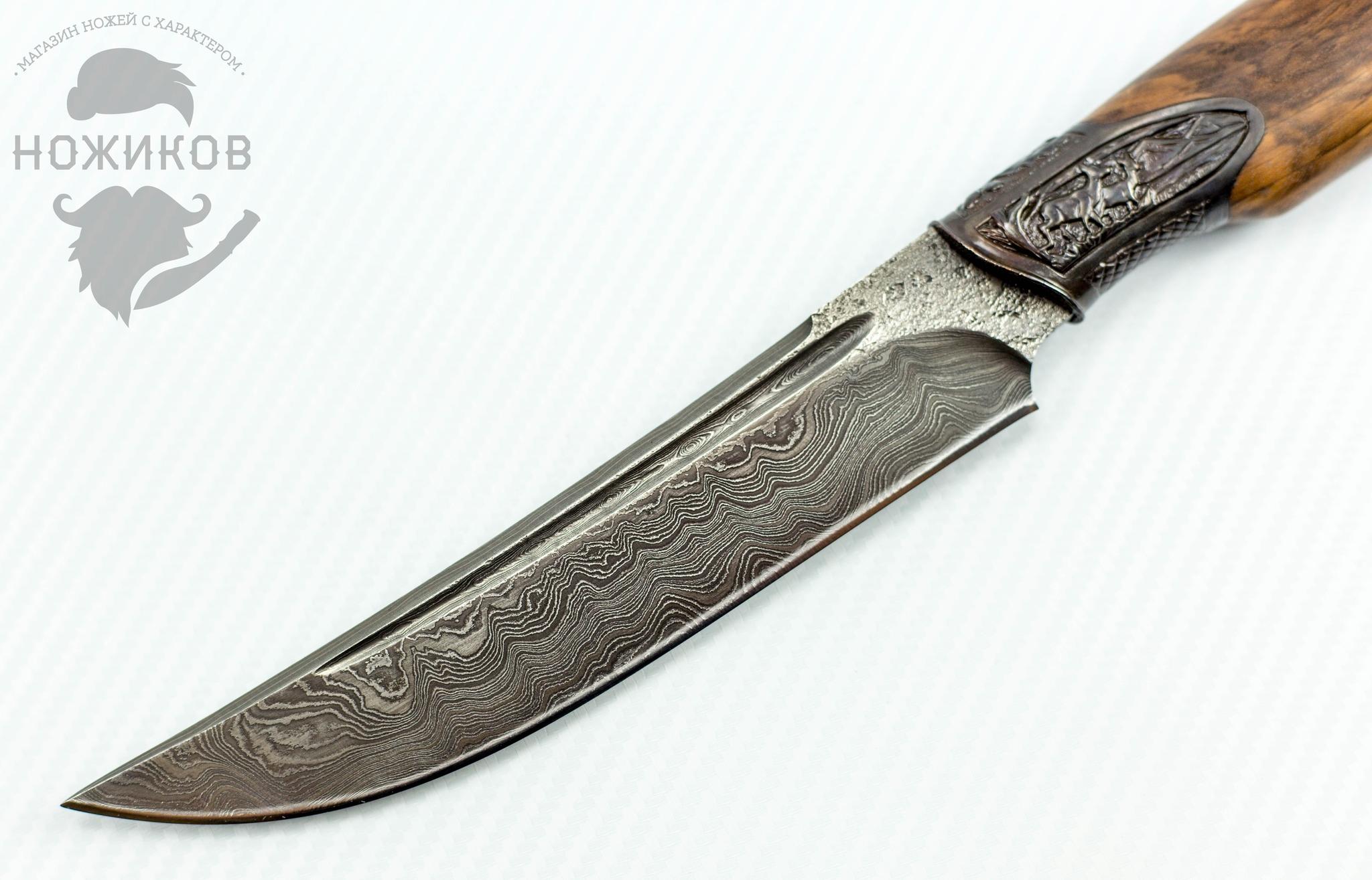 Фото 2 - Авторский Нож из Дамаска №50 от Кизляр