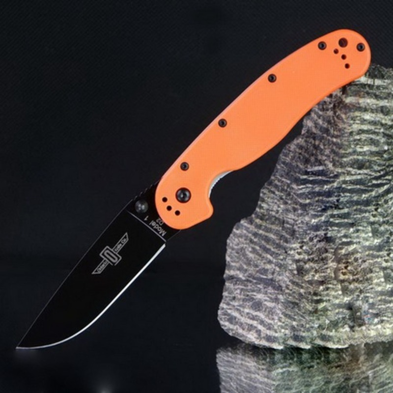 Нож складной RAT™-1 Limited Edition, Black Blade, Orange Handle, D2 Tool Steel 8.89