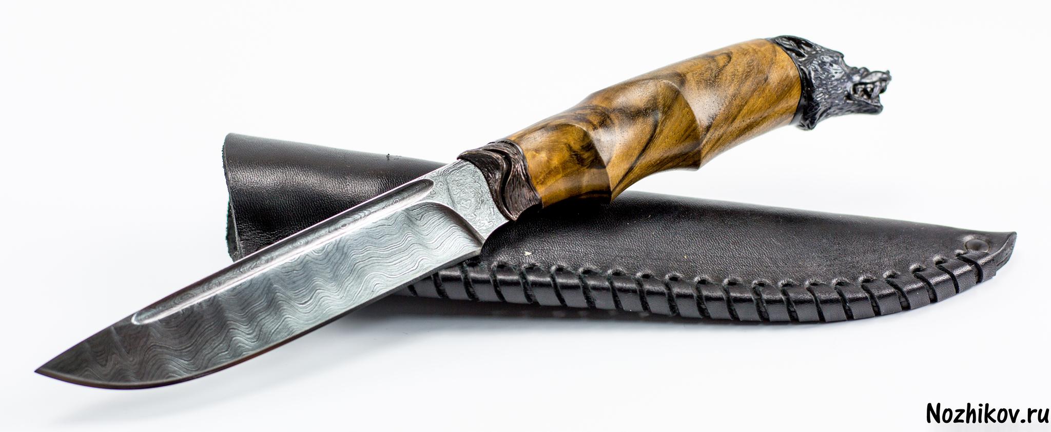 Авторский Нож из Дамаска №3, КизлярНожи Кизляр<br><br>
