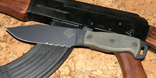 Нож с фиксированным клинком Ontario RD6 Black Micarta, серейтор мачете ontario sp8