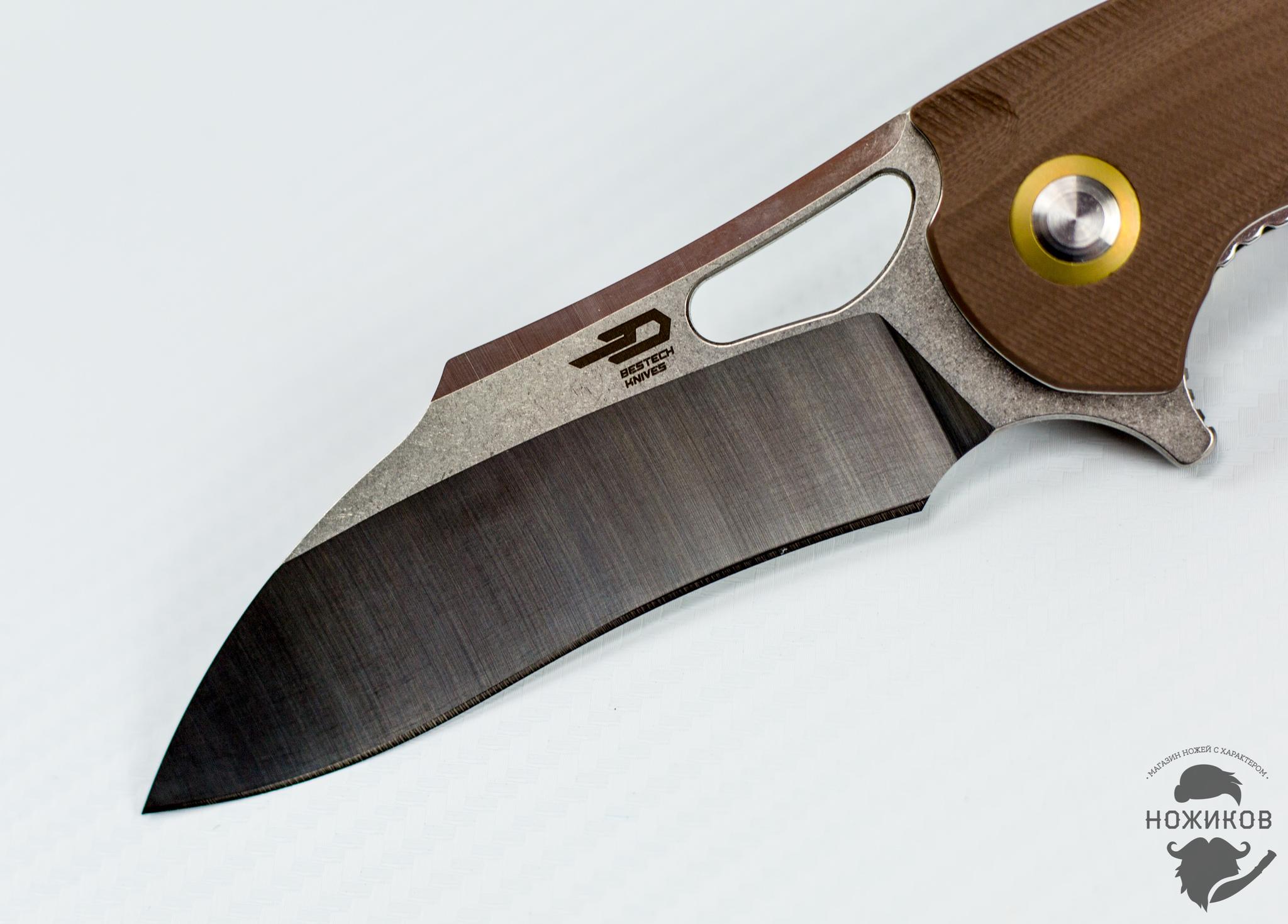 Фото 7 - Складной нож Bestech Rhino BG08B, сталь 154CM от Bestech Knives