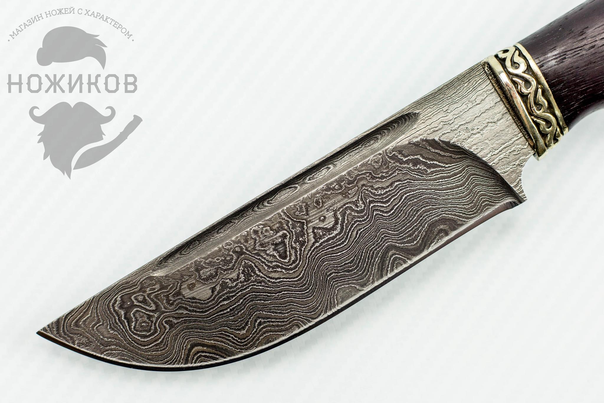 Фото 2 - Авторский Нож из Дамаска №74, Кизляр