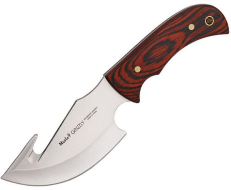 Нож с фиксированным клинком Grizzly, Pakka Wood Handles 12.0 см.Охотнику<br>Нож с фиксированным клинком и крюком Grizzly, Pakka Wood Handles 12.0 см.<br>