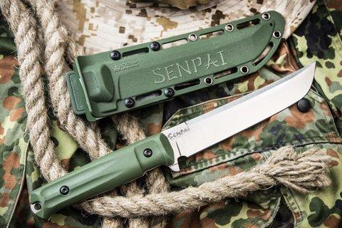 Нож Senpai AUS-8 Satin Olive - Nozhikov.ru