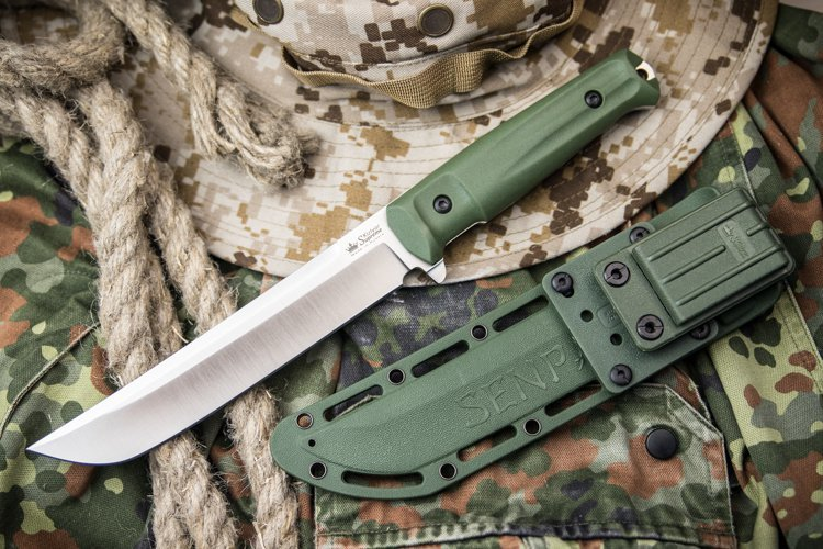 Фото 3 - Нож Senpai AUS-8 SW Olive, Kizlyar Supreme