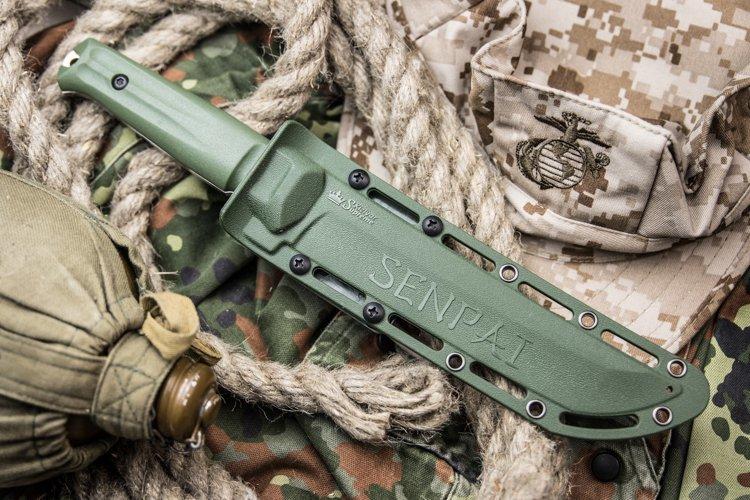 Фото 4 - Нож Senpai AUS-8 SW Olive, Kizlyar Supreme