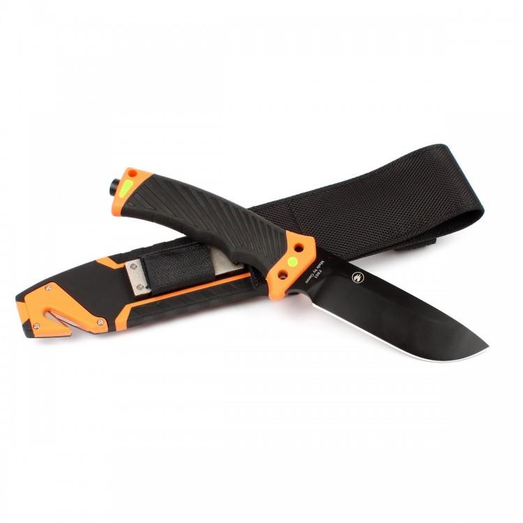 Фото 3 - Нож для выживания с огнивом и точилкой Firebird (by Ganzo) F803-OR