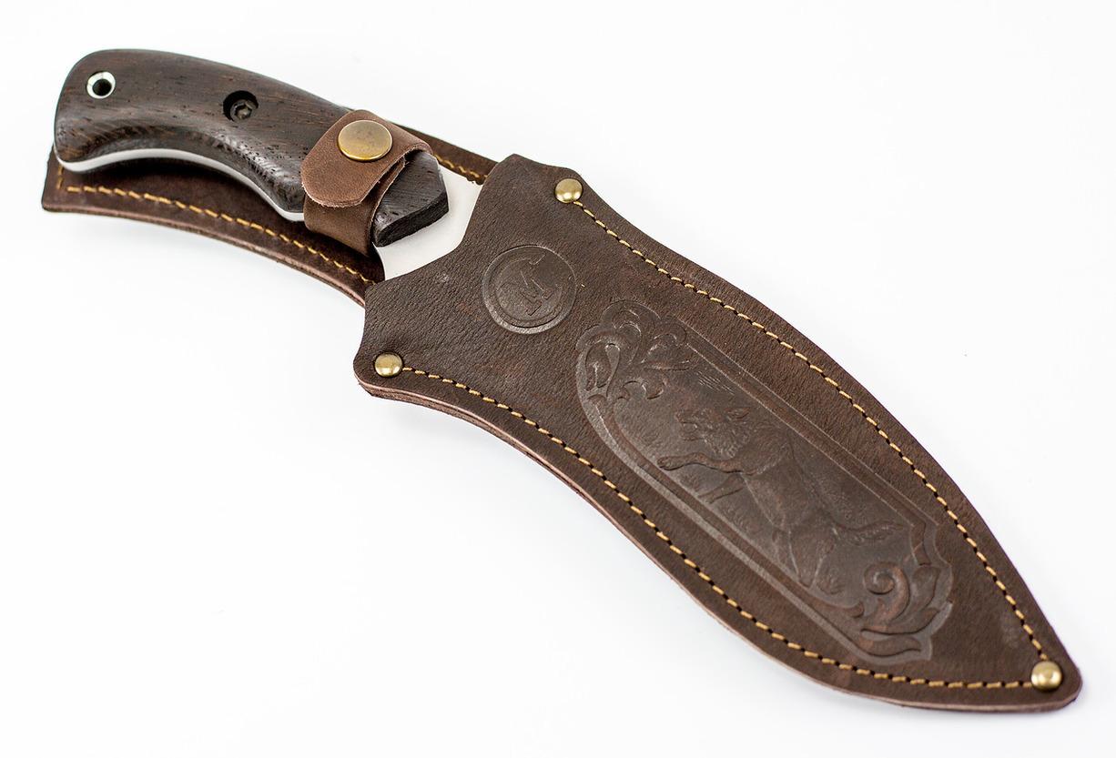 Фото 5 - Нож для выживания БУРАН, сталь 65Х13, рукоять венге от Кузница Семина