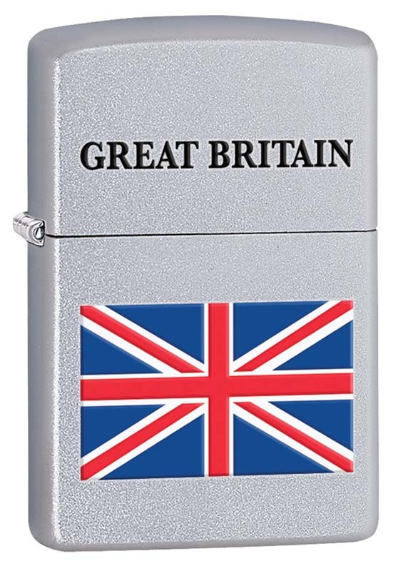 Зажигалка ZIPPO Union Jack, латунь с покрытием Brushed Chrome, серебристая, матовая, 36х12x56 мм active color block union jack flag printed sweatshirt and pants twinset for women
