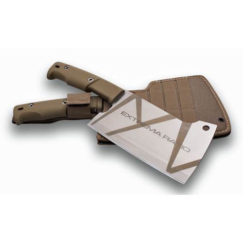 Кухонный топорик Genovese Desert CamoБренды ножей<br>Кухонный топорик Genovese Desert Camo, клинок камуфляж коричневые полосы, сталь N690(58HRC), рукоять коричневый forprene, чехол нейлон.<br>