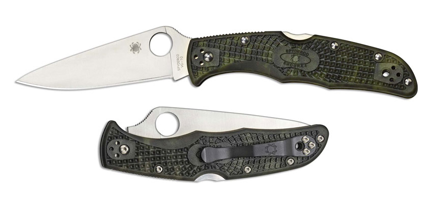 Нож складной Endura® 4 Lightweight, Zome Green FRN Handles, Flat Ground, Satin Finish VG-10 Blade