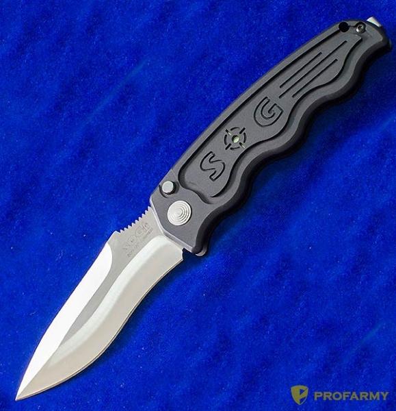 Фото 4 - Складной автоматический нож SOG-TAC ST05, сталь Aus 8, рукоять алюминий