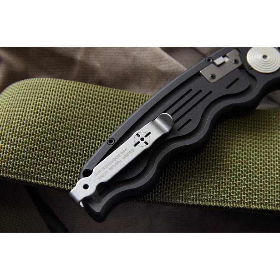 Фото 3 - Складной автоматический нож SOG-TAC ST05, сталь Aus 8, рукоять алюминий