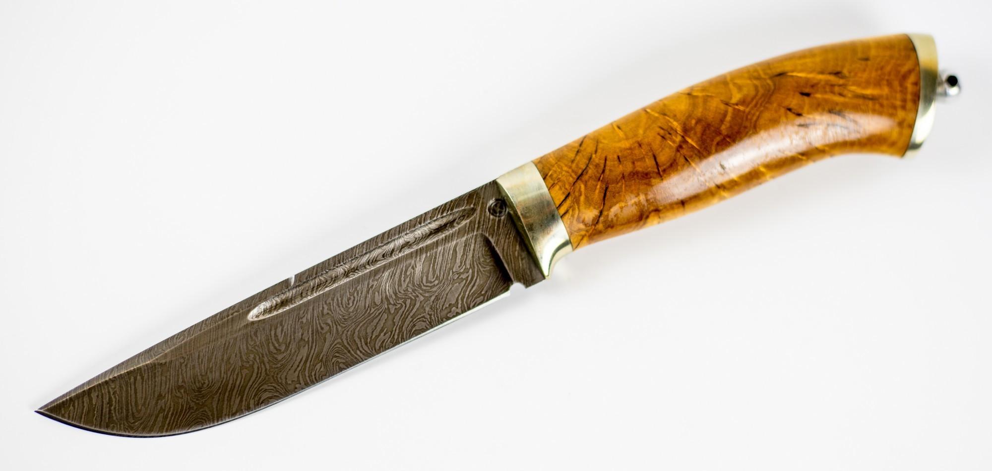 Нож Бекас,  дамасская стальРыбацкие ножи<br>Нож Бекас, дамасская сталь<br>