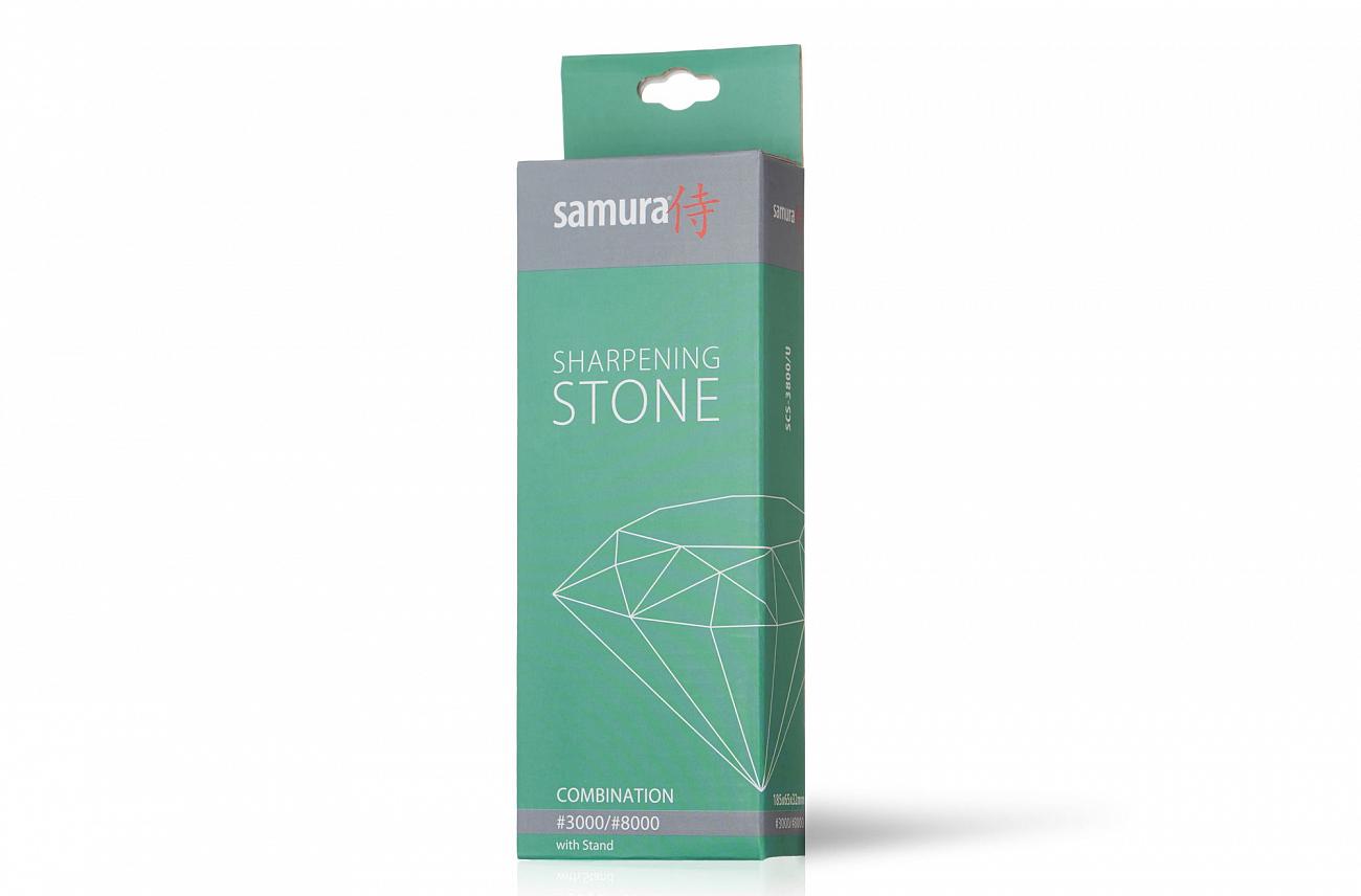 Камень точильный Samura водный комбинированный #3000/#8000