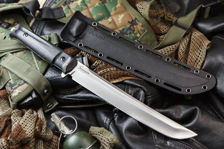 """Нож Sensei AUS-8 Satin+SW, Кизляр от Магазин ножей """"Ножиков"""""""