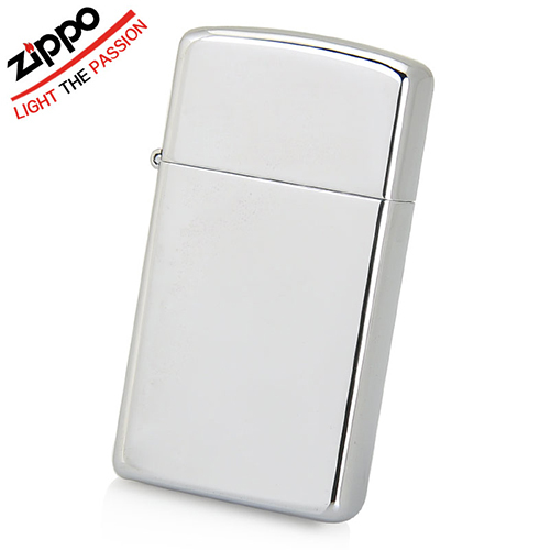 Зажигалка ZIPPO Slim®, латунь с покрытием High Polished Chrome, серебристая, глянцевая, 30х10x55 мм flg wall mounted square toilet brush holder brass bathroom hardware ceramic cups chrome polished bathroom accessories set 85203