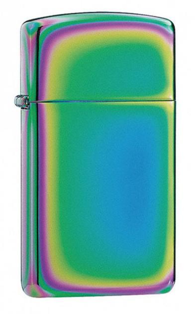 Зажигалка ZIPPO Spectrum, латунь с никеле-хром. покрыт.,разноцветная,глянц.,30х55х10 ммЗажигалки Zippo<br>Зажигалка ZIPPO Spectrum, латунь с никеле-хромовым покрытием, разноцветная, глянцевая, 30х55х10 мм<br>