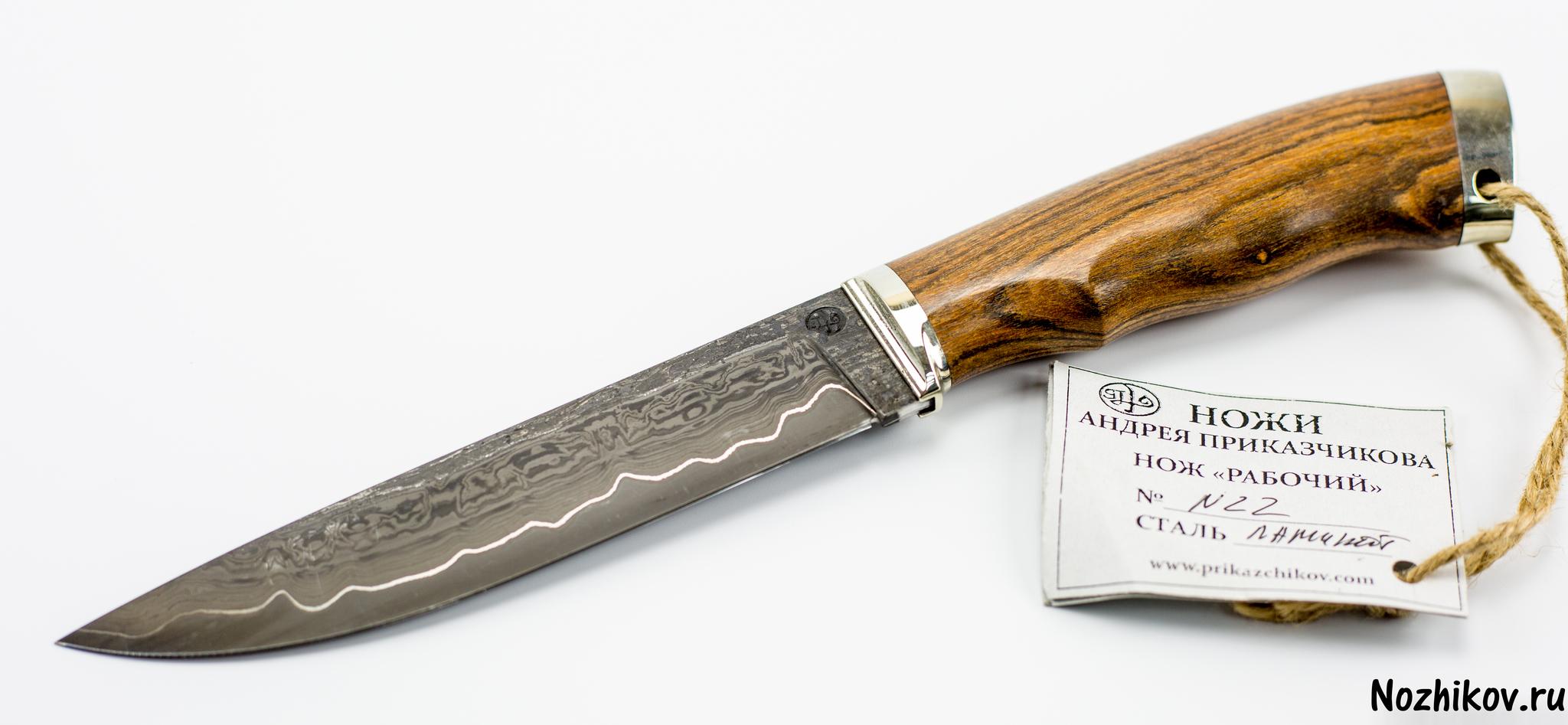 Нож Рабочий №22 из Ламината, от ПриказчиковаНожи Павлово<br><br>