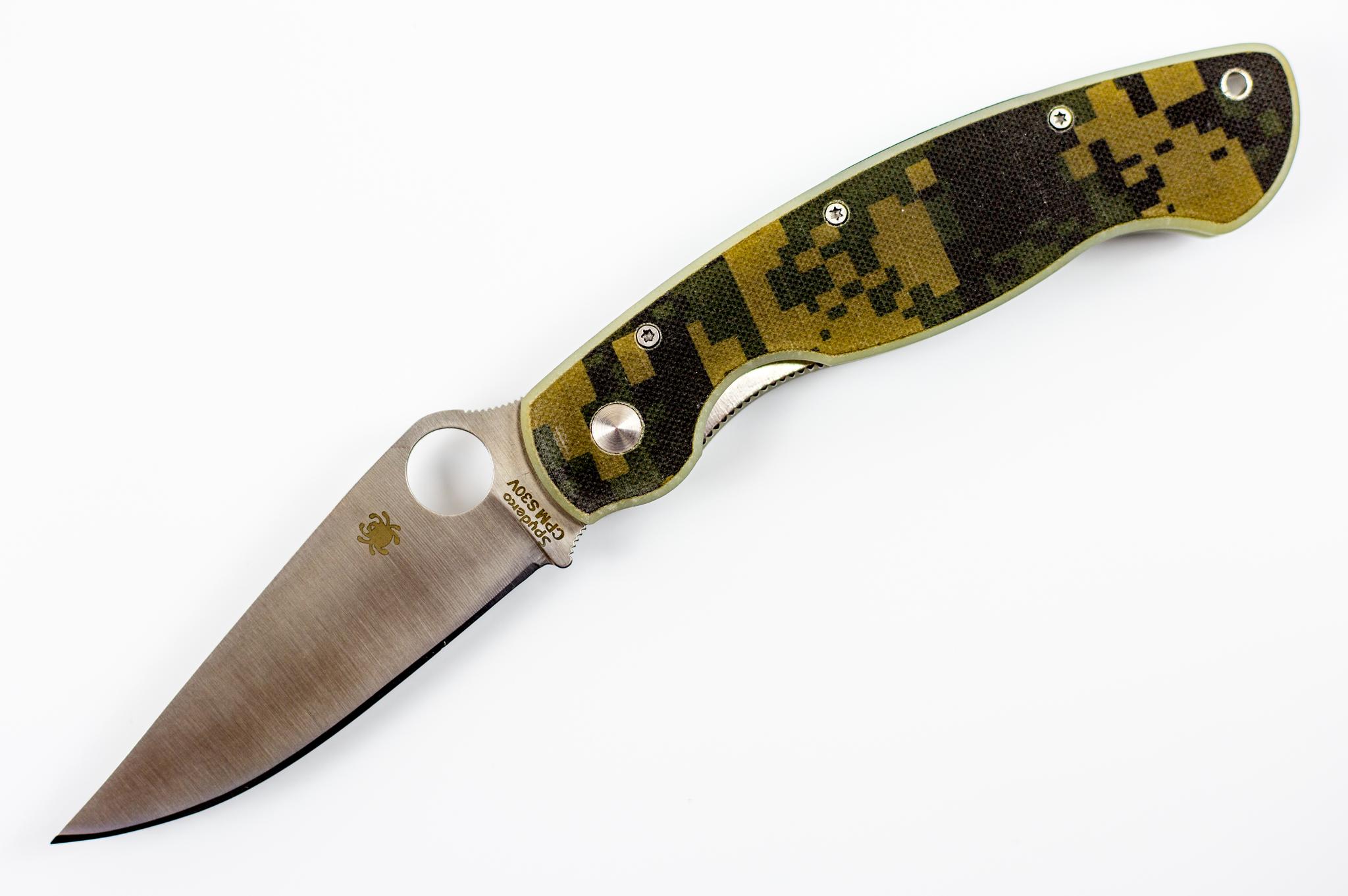 Складной нож Spyderco Military Camo ReplicaРаскладные ножи<br>Китайская реплика ножа Spyderco Military Camo<br>