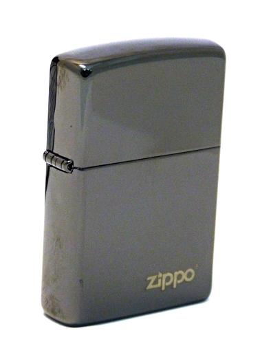 Зажигалка ZIPPO ZL Ebony, латунь с никеле-хромовым покрытием, черный, глянцевая, 36х56х12 мм зажигалка zippo ebony w zippo lasered 24756zl