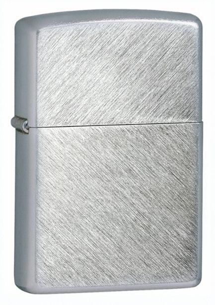 Зажигалка ZIPPO с покрытием Herringbone Sweep, латунь/сталь, серебристая, матовая, 36x12x56 мм