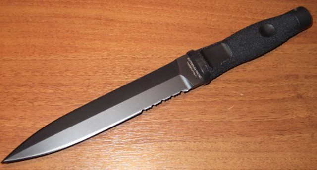 Фото 3 - Нож с фиксированным клинком Extrema Ratio Adra Operativo Black, сталь Bhler N690, рукоять полиамид