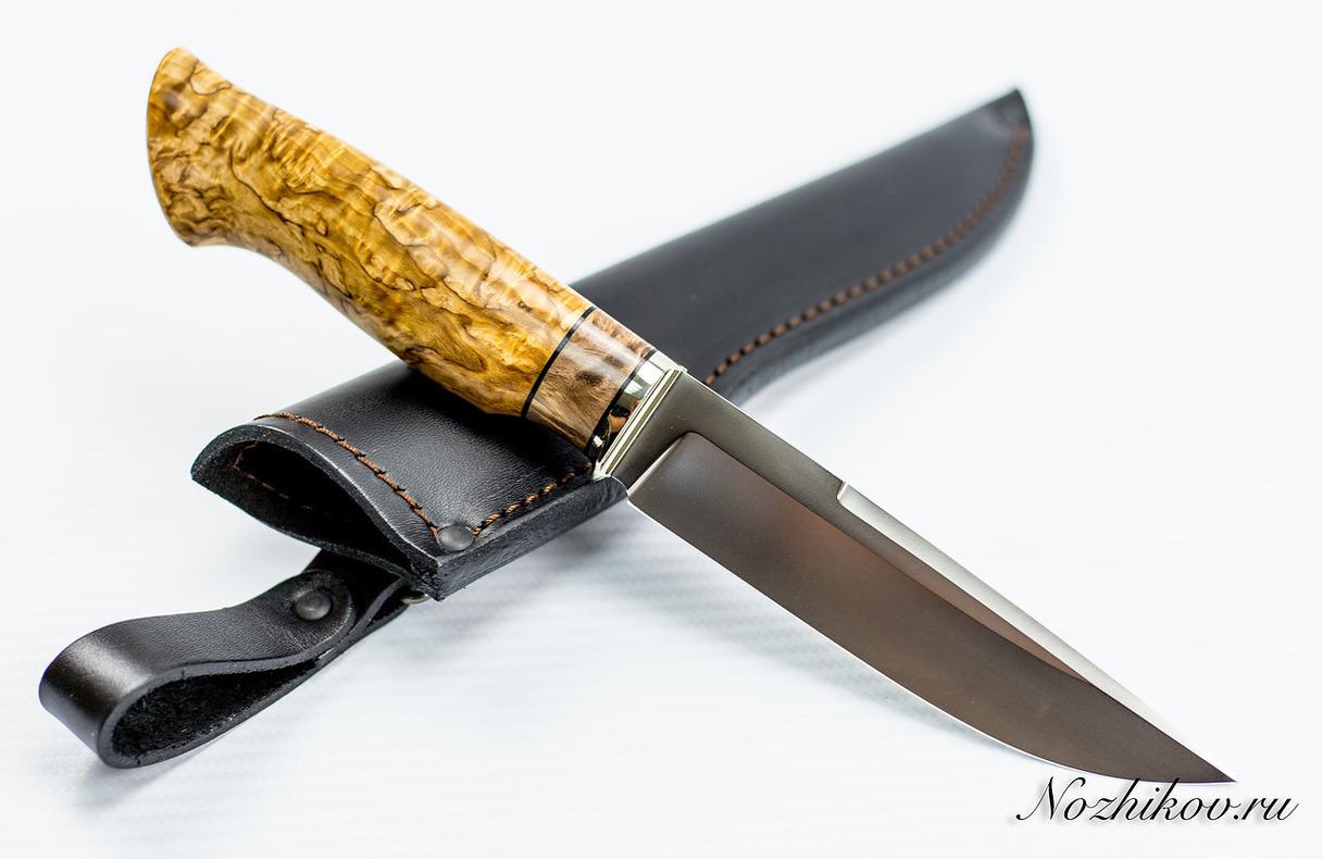 Нож Рабочий N55 из порошковой стали Bohler M390Ножи Павлово<br>Сталь: M390Длина клинка (мм.): 143 Наибольшая ширина клинка (мм.): 30 Толщина обуха клинка (мм.): 3,1 Толщина подвода (мм.): 0,3-0,5 Твердость стали: 62-63Hrc Общая длина ножа (мм.): 176 Поверхность клинка: полировка, пескоструй Спуски клинка: вогнутые<br>