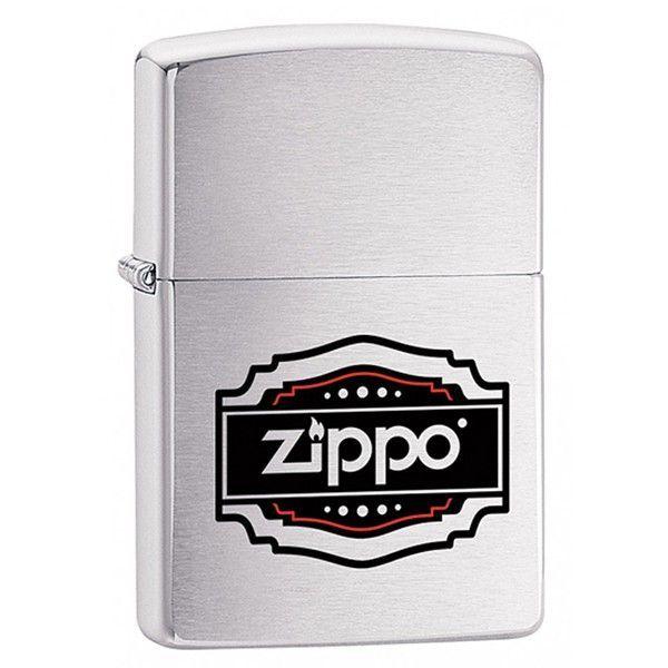 Зажигалка ZIPPO 200 Vintage Zippo с покрытием Brushed Chrome, латунь/сталь, серебристая, 36x12x56 мм зажигалка zippo rolling stones с покрытием satin chrome™ латунь сталь серебристая 36x12x56 мм
